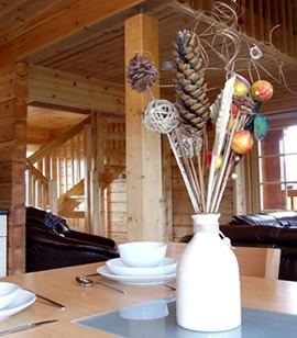 Sauna Log Cabin Moray Scotland Accommodation Speyside