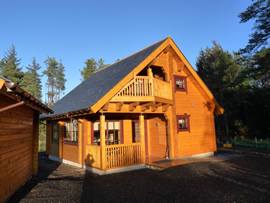 luxury log cabin scotland uk with hot tub